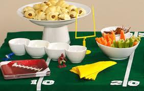 Super Bowl Table Setting